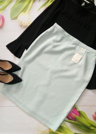 👠нежно голубая юбка миди👠