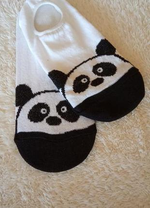 🐼новинка🐼белые носки следки/подследника панда/супер цена🙀