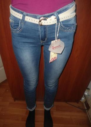 Акция! джинсы скинни узкие для девочек,134-164, венгрия