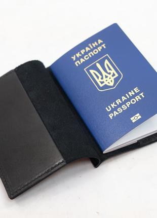 Кожаная обложка для паспорта из натуральной кожи итальянский к...