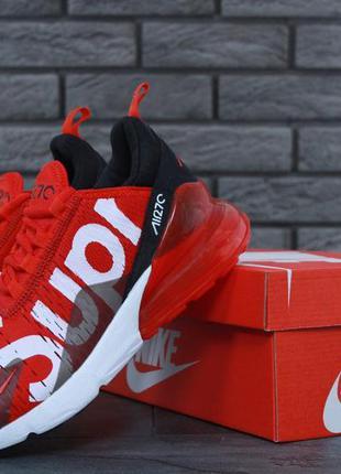 Nike air max 270 supreme red  🔺 мужские кроссовки