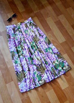 Стильная цветочная юбка миди от canda