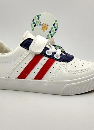 Детские кроссовки слипоны белые tom.m 25-30