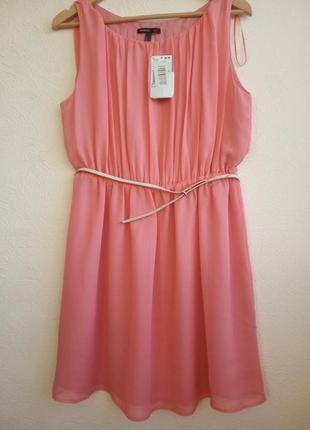 Платье mango кораллового цвета