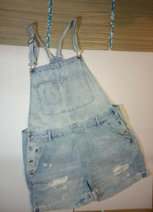 Джинсовый комбинезон летний шортами для беременных