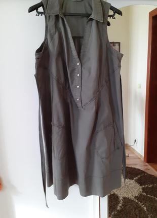 Очень крутое котоновое платье рубашка большого размера