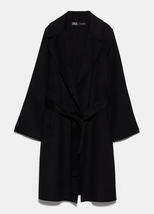 Пальто с поясом zara
