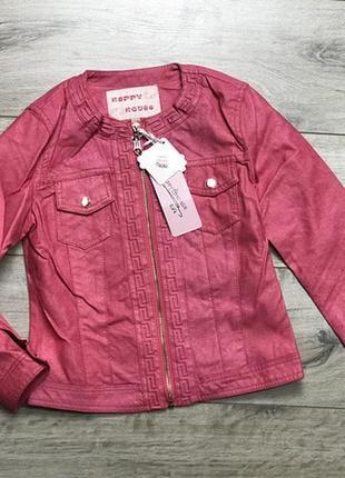 Крутая качественная куртка пиджак с экокожи, 164, польша