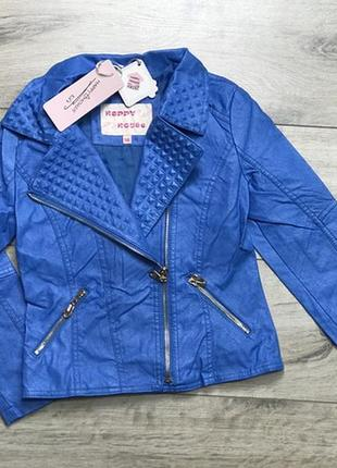 Акция!куртка косуха для девочек из экокожи, 116, польша
