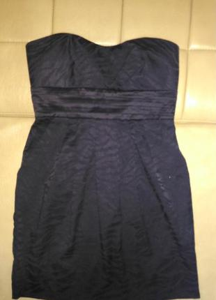 Платье чёрного цвета, вечернее, коктельное ,тигровая рельефная...