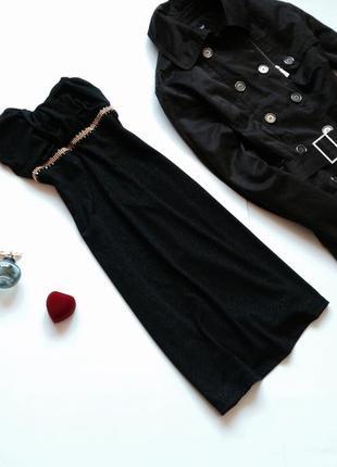 Вечернее чёрное коктейльное платье
