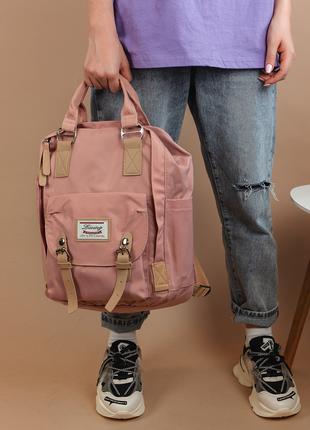 Рюкзак органайзер женский розовый в корейском стиле college bag