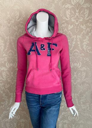 Abercrombie and fitch оригинал розовое худи спортивная кофта