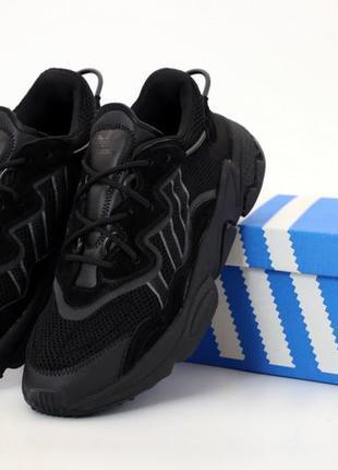Мужские кроссовки adidas ozweego. black