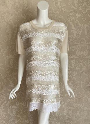 Louis vuitton оригинал италия молочное нарядное платье туника ...
