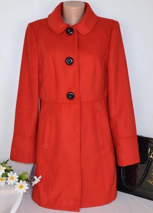 Брендовое красное демисезонное пальто с карманами george вьетн...