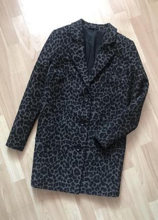 В наличии - легкое пальто-кокон в принт *marks&spencer* 16 р.