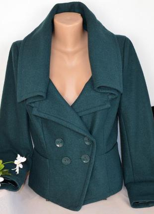 Брендовое демисезонное пальто полупальто жакет с карманами top...
