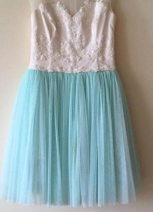 Платье на випускной, платье вечернее, платье с камнями