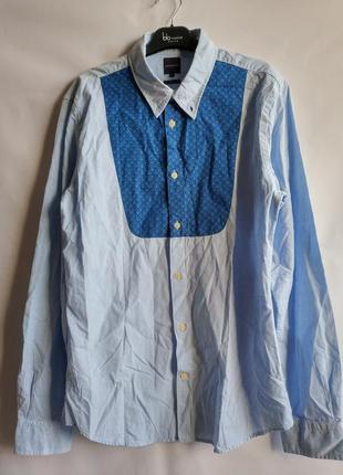 Мужская рубашка slim fit хлопок французского бренда promod евр...