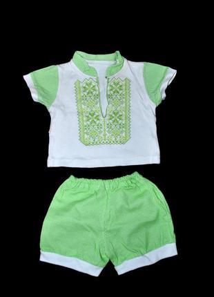 Комплект лот костюм для новорожденного 6 мес шорты футболка