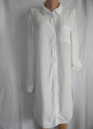 Кремовое платье рубашка f&f