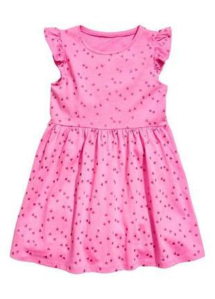 Платье н&м для девочек в сердечка  h&m