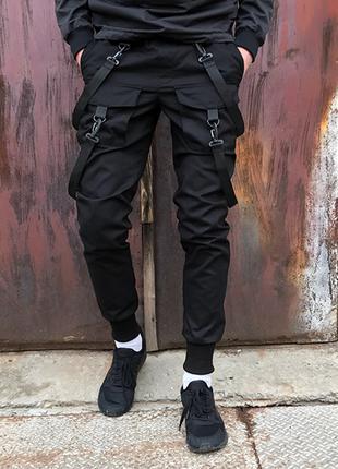 Брюки карго мужские Scarstrope черные