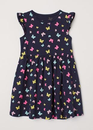 Платье н&м для девочек в цветочки на 10 лет