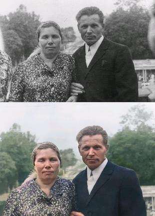 Реставрация и цветокоррекция фото
