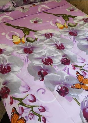 """Двухспальный комплект постельного белья из бязи голд""""орхидея"""""""