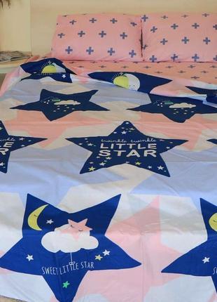 """Двухспальный комплект постельного белья из бязи голд """"star зве..."""