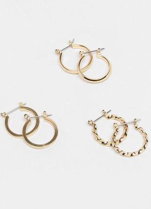 Сережки кільця, серьги кольца asos