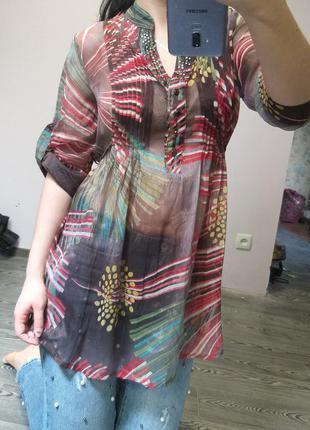 Шифоновая жатая блуза lola rules  / опустошаю шкаф