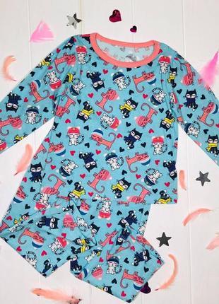 Пижама примарк для девочки с котенком primark