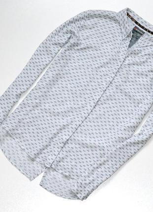 Стильная рубашка серого цвета,рубашка с принтом