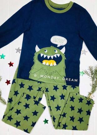 Пижама с монстром для мальчика carter's, комплект картерс на м...