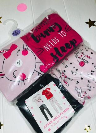 Пижама примарк для девочек 7-8 лет упаковка primark