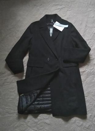 Новое пальто add трансформер 3 in 1 80% шерсть+жилет на пуху п...