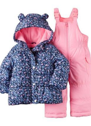 Комбинезон 2в1 зимний для девочки картерс (куртка+штаны)