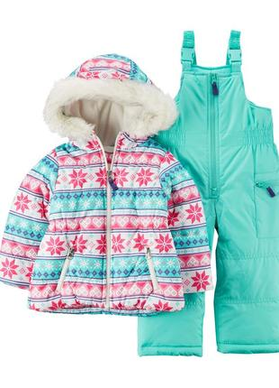Комбинезон 2в1 зимний для девочки картерс (куртка+штаны)  расп...