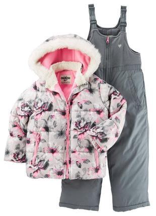 Комбинезон 2в1 зимний для девочки картерс (куртка+штаны) распр...