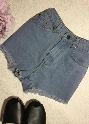 Шорты джинсовые с высокой посадкой  gold sk размер s