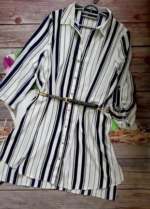 Стильная блузка рубашка удлиненная