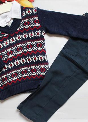 Комплект тройка нарядный мальчик / костюм трійка на свято 86-9...