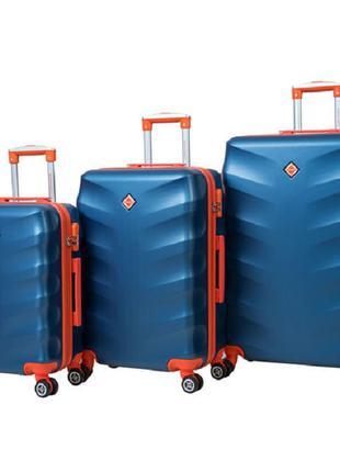 Чемодан сумка дорожный Bonro Next набор 3 штуки синий