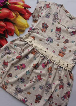 Трикотажное платье на девочку лол /куколки лол сукня, сарафан ...