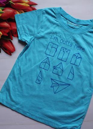Футболка мальчик голубая /футболка хлопчик