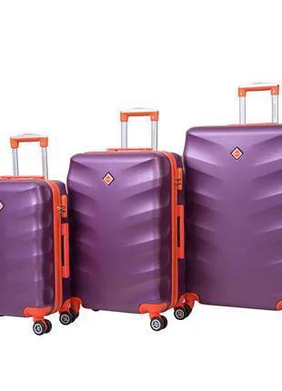 Чемодан сумка дорожный Bonro Next набор 3 штуки т. фиолетовый