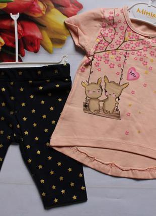 Комплект на девочку / футболка + шорти